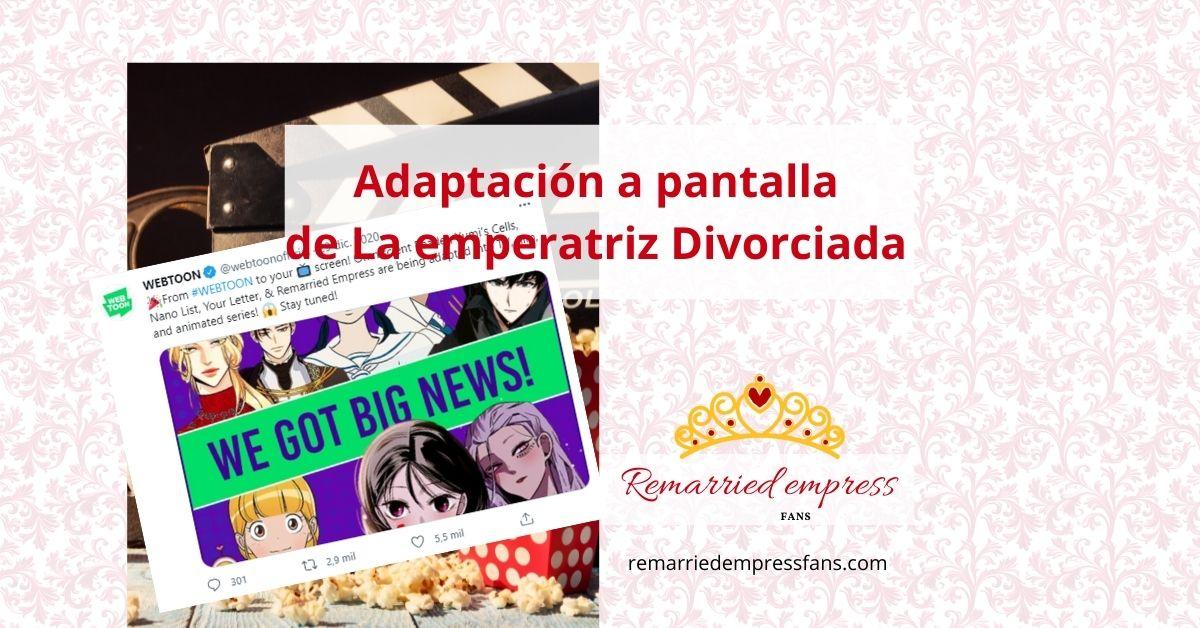La emperatriz divorciada kdrama o serie animada